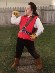 "Matt as ""Gaston"" from Disney's ""Beauty and the Beast"" - one of his favorite characters to portray."